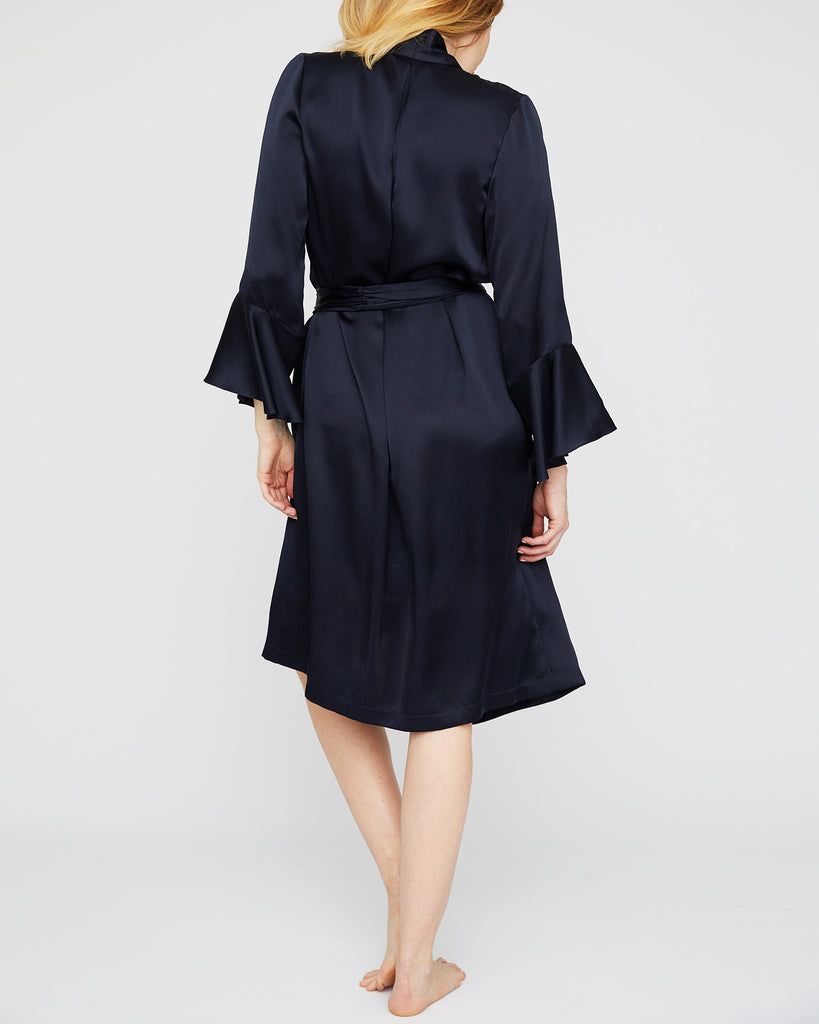 The Dakota Robe in Midnight Blue