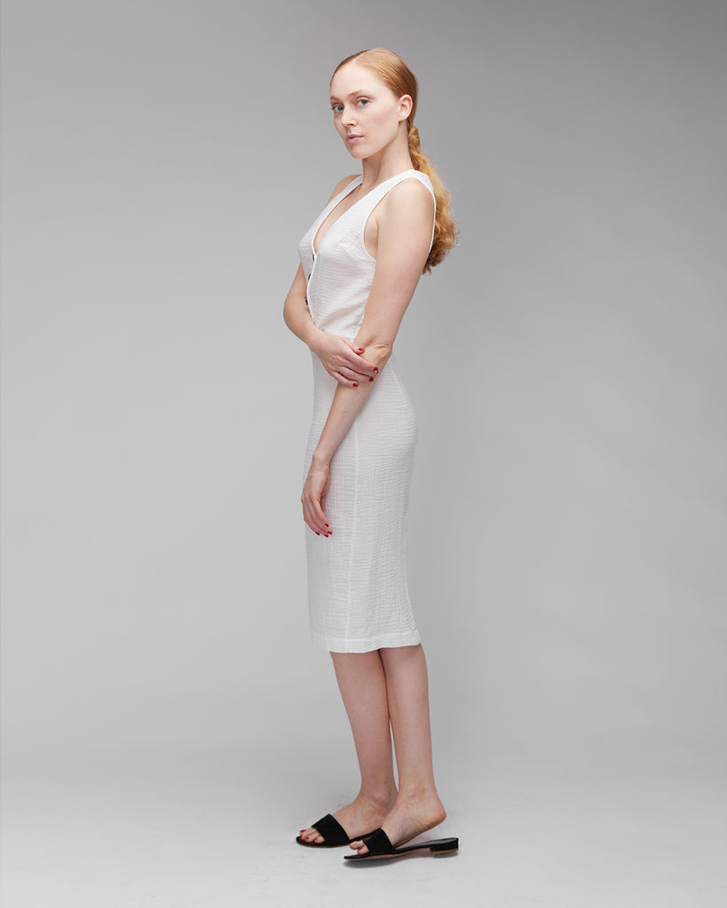 The Dita Dress in Off-White
