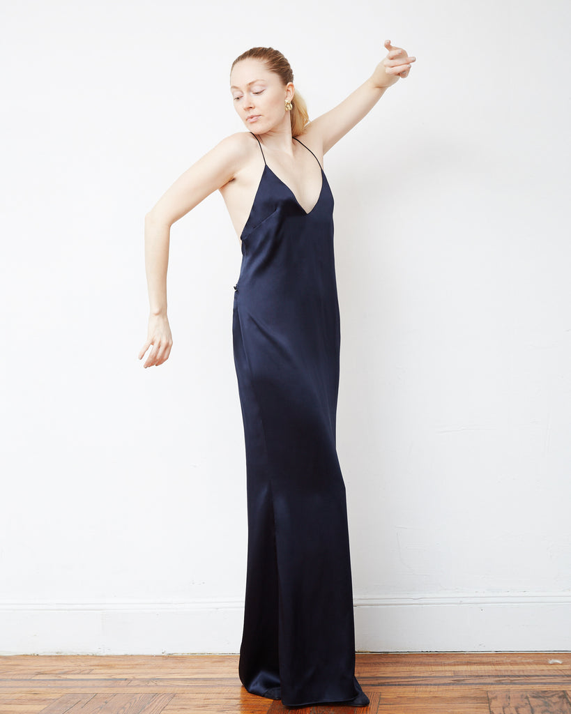 The Ebba Dress in Midnight Blue