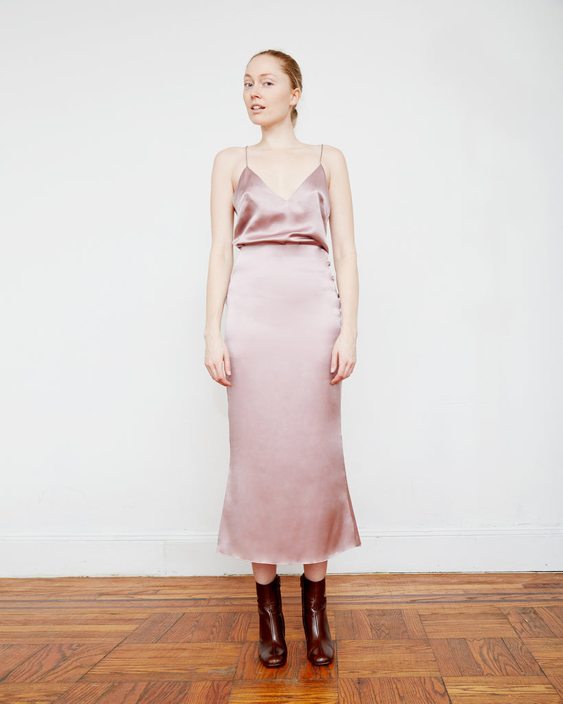 The Enok Skirt in Misty Rose - INGA-LENA