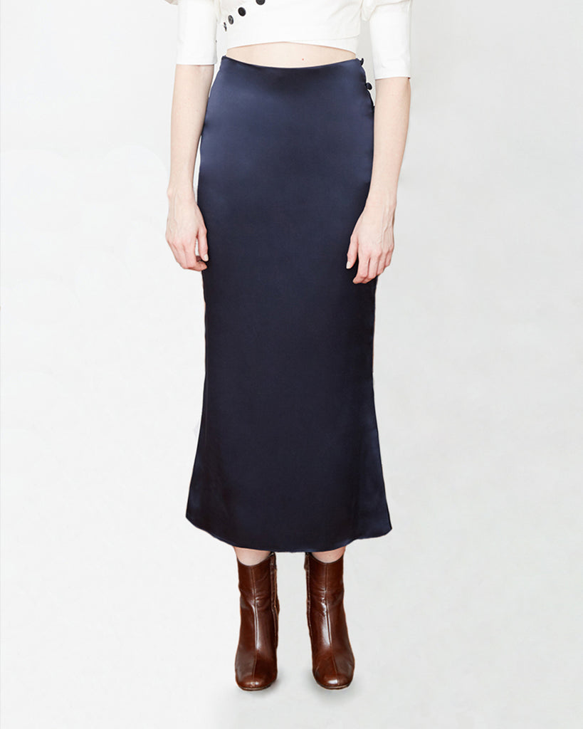 The Enok Skirt in Midnight Blue - INGA-LENA