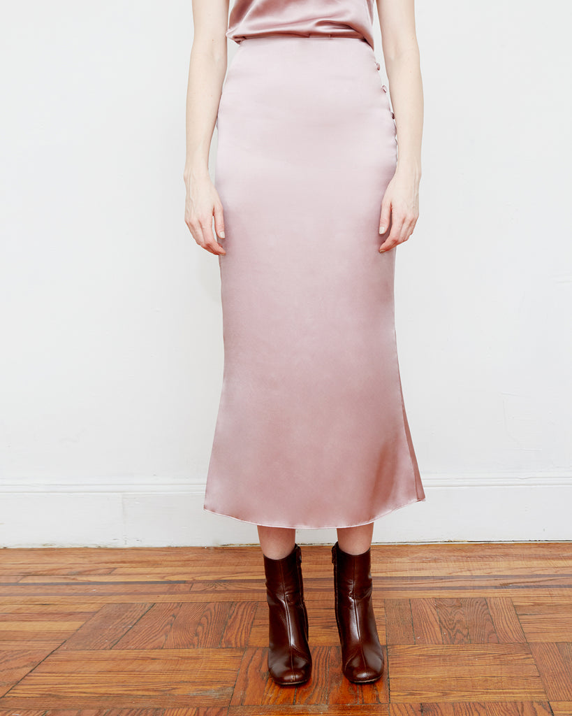 The Enok Skirt in Misty Rose