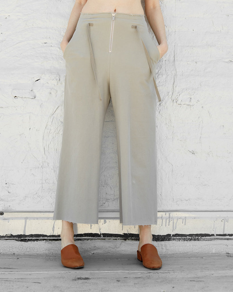 The Frida Culottes in Pearl Grey