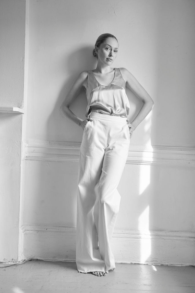 Hampus Trousers in Ivory