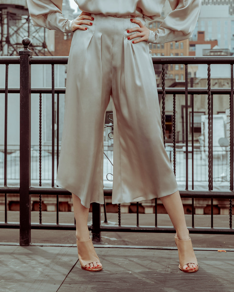 The Janie Pant in Shimmery Sand - INGA-LENA