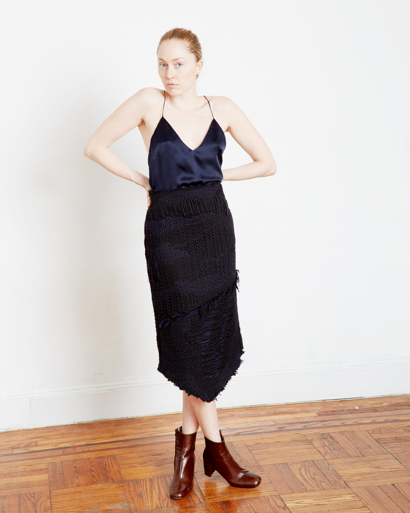 The Joris Skirt in Black Tweed - INGA-LENA