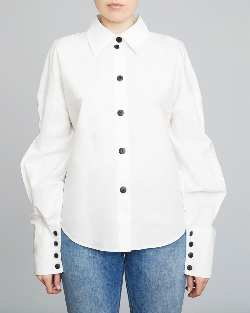 The Kala Blouse in White - INGA-LENA