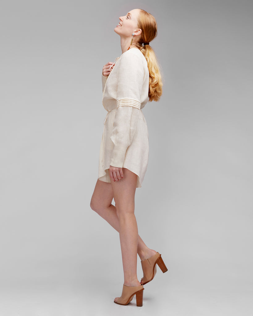 The Ludo Romper in Creme - INGA-LENA
