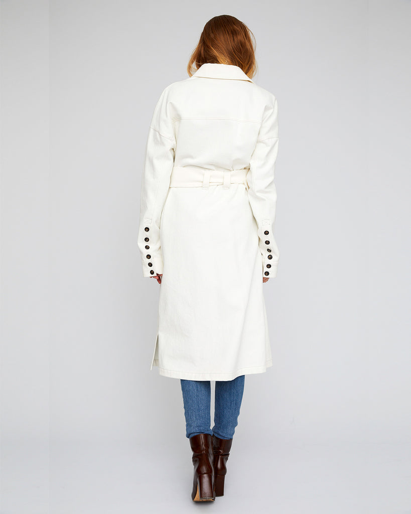 The Magda Trench in Off White