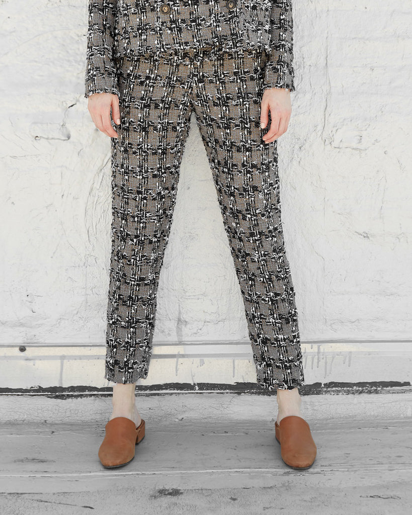 The Malin Trousers in Plaid Tweed - INGA-LENA
