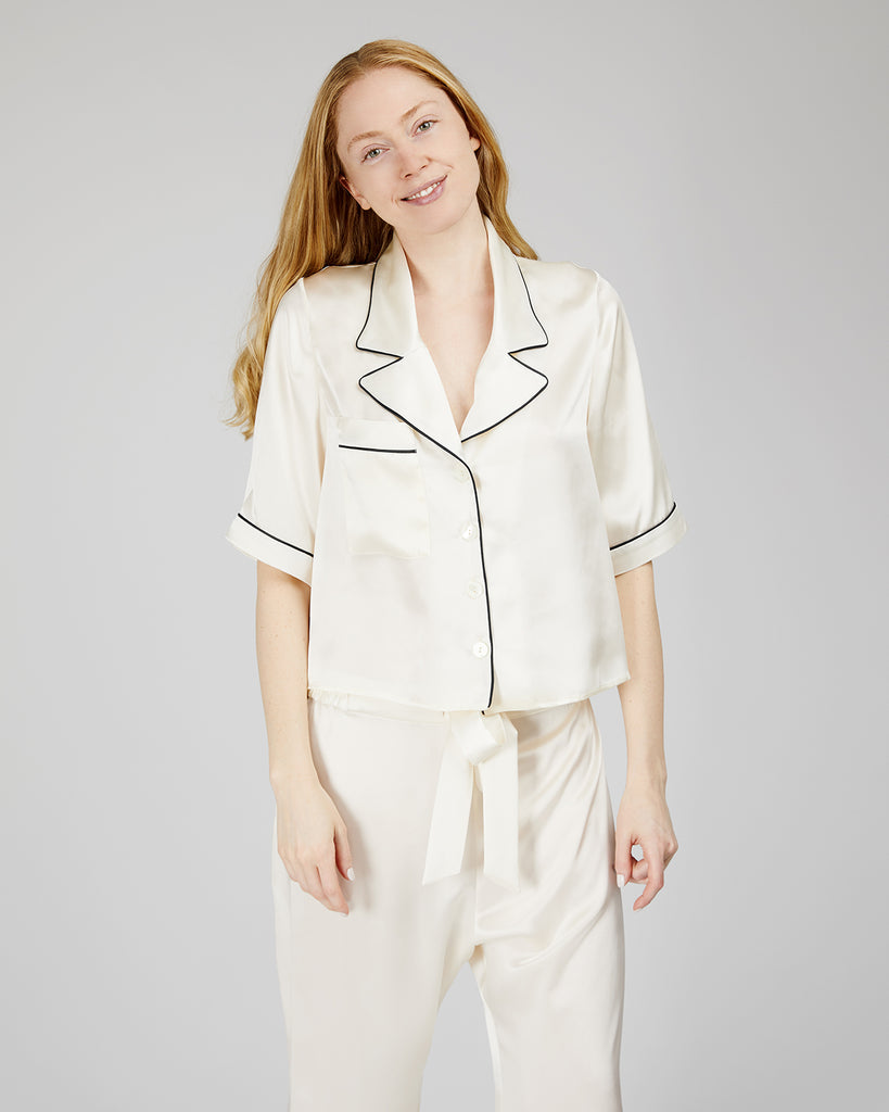 The Mona Pajama in Ivory - INGA-LENA