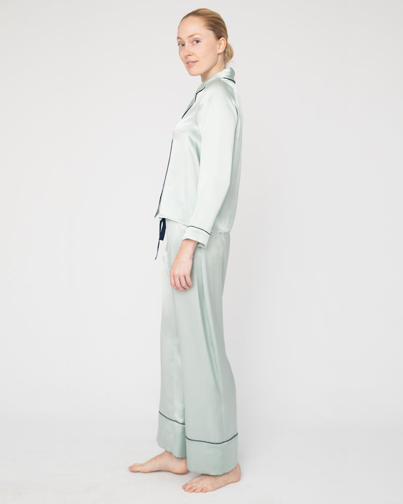The Cordi Pajama in Teal Blue