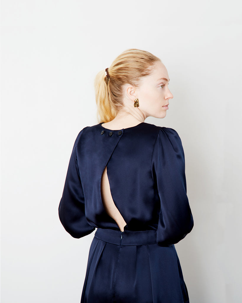 The Pontus Jumpsuit in Midnight Blue - INGA-LENA