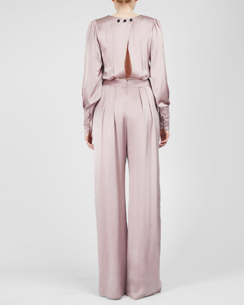 The Pontus Jumpsuit in Misty Rose - INGA-LENA