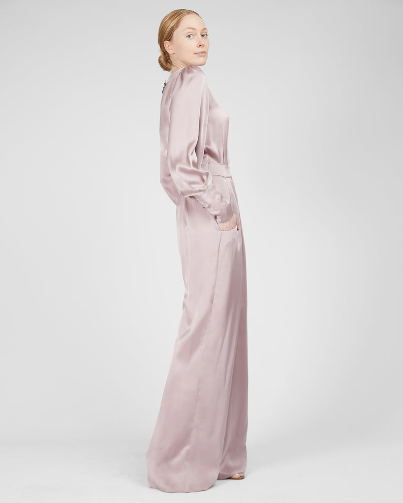 The Pontus Jumpsuit in Misty Rose