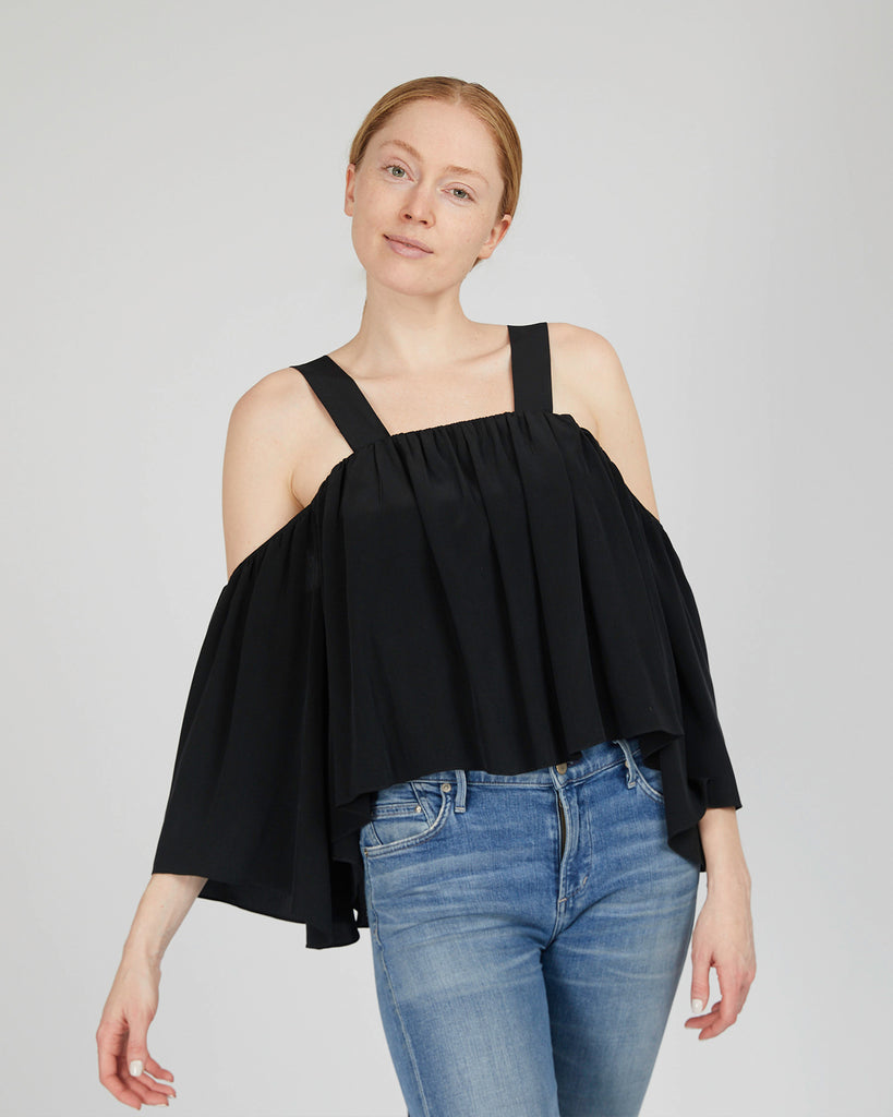The Rutha Blouse in Charcoal - INGA-LENA