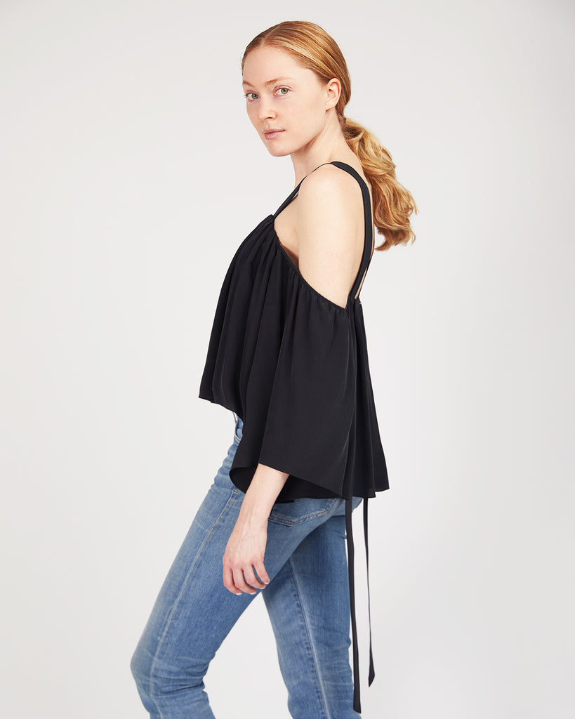 The Rutha Blouse in Charcoal