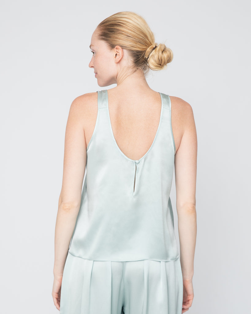 The Talia Tank in Teal Blue - INGA-LENA