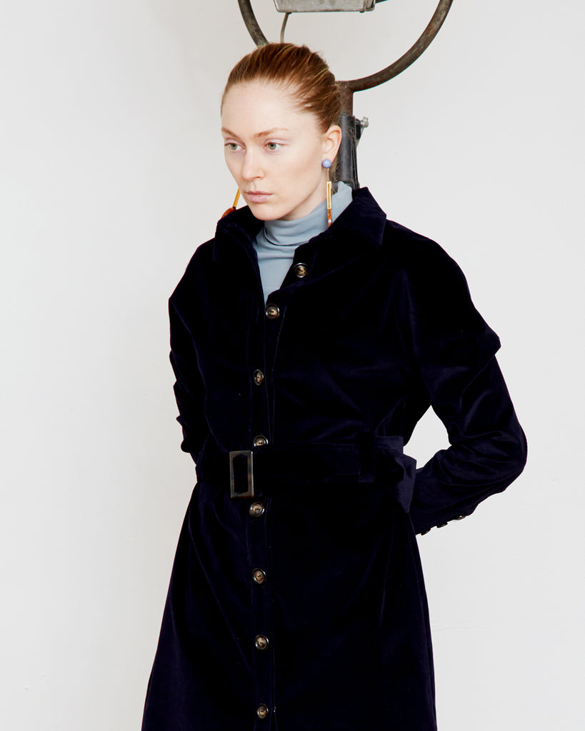 The Toni Trench in Deep Navy
