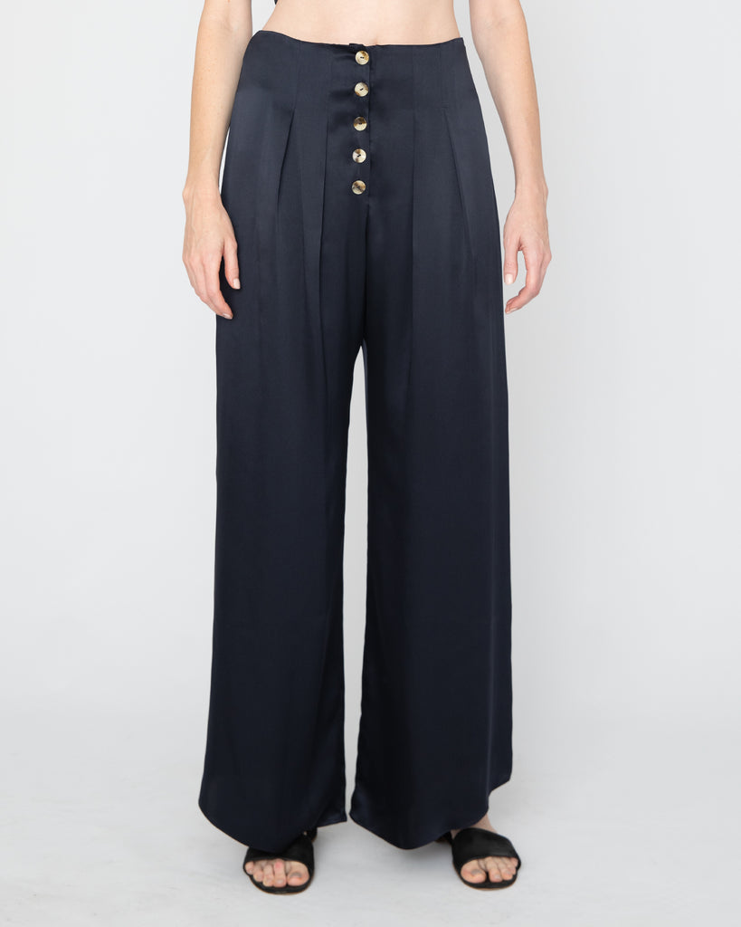 The Veiga Pant in Midnight Blue - INGA-LENA