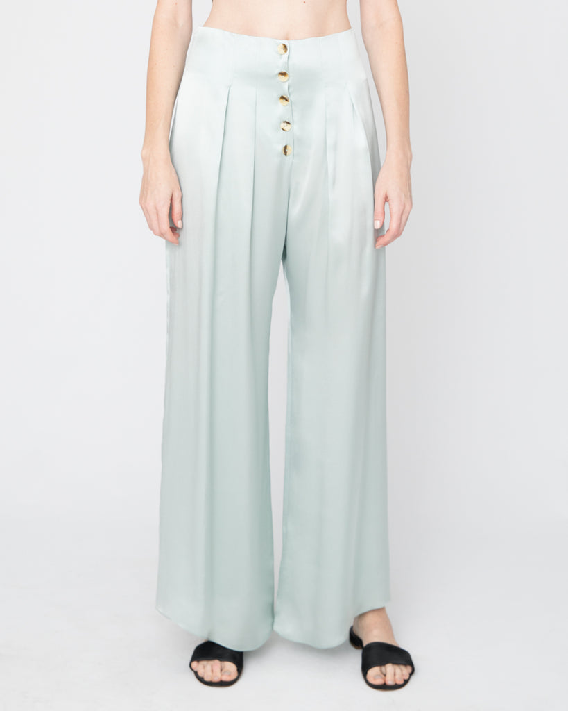 The Veiga Pant in Teal Blue - INGA-LENA