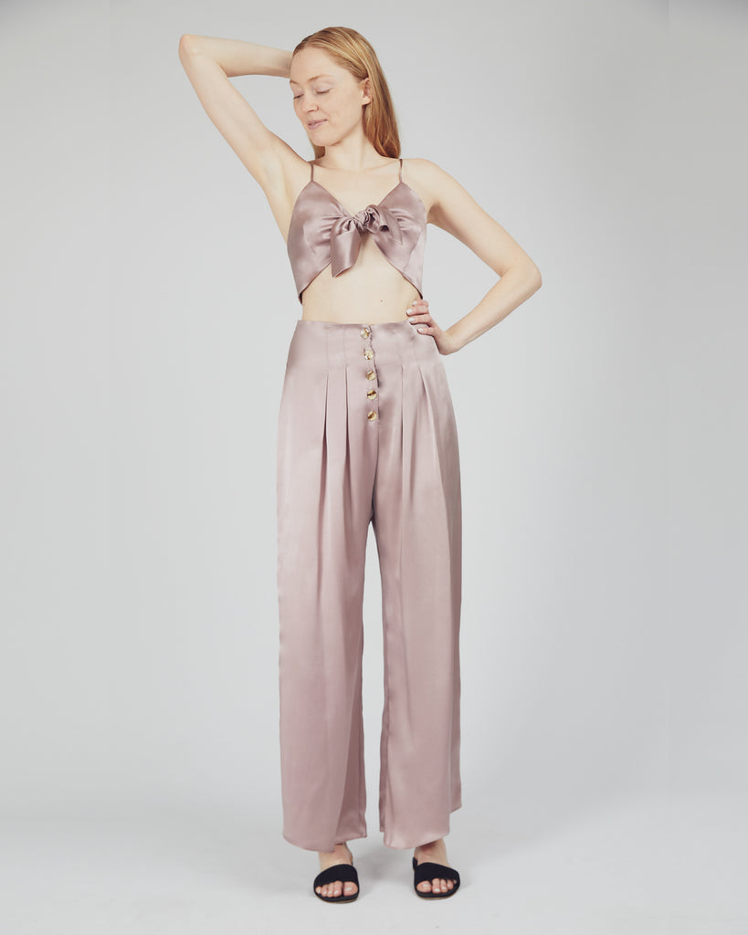 The Veiga Pant in Misty Rose