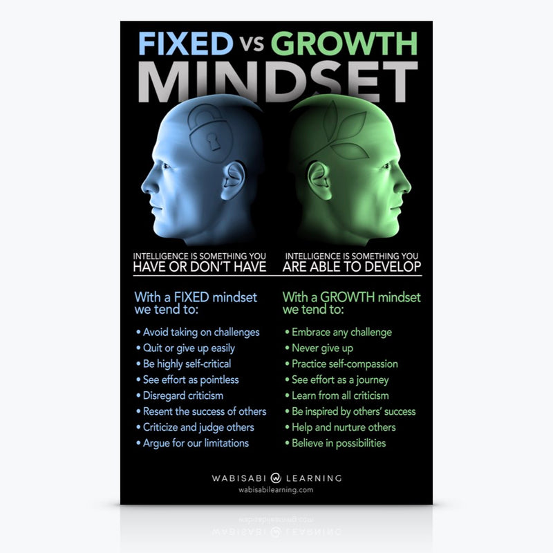 Fixed vs. Growth Mindset Poster