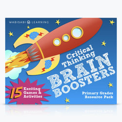Critical Thinking Brain Boosters for Primary School Learners Digital Download Wabisabi Learning