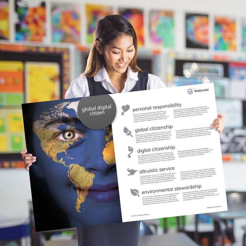 Global Digital Citizen Poster Poster Wabisabi Learning