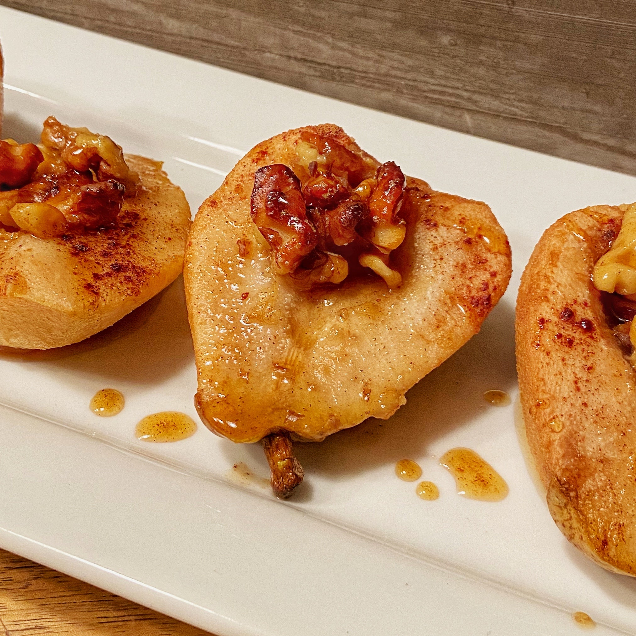 Stuffed Baked Pears with Walnuts & Honey