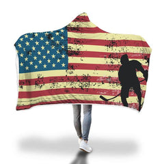 USA Hockey Hooded Blanket