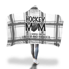 Checkered Hockey Mom Blanket