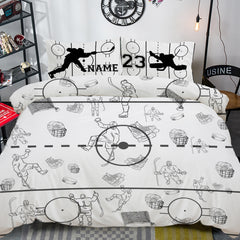 Personalized Hockey Bed Set