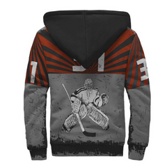 Personalized Hockey Goalie Sherpa Hoodie