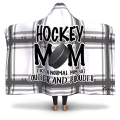 Checkered Hockey Mom Hooded Blanket