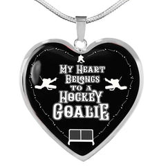 My Heart Belongs To a Goalie Necklace
