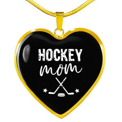 Hockey Mom Heart Necklace