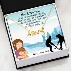 Thank You Hockey Mom Love Necklace