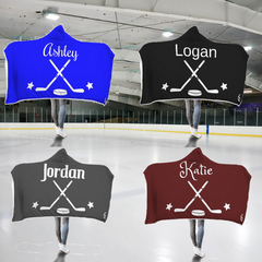 Personalized Hockey Hooded Blanket