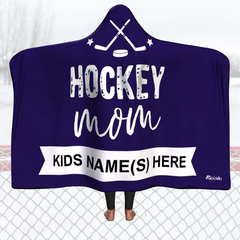 Personalized Hockeyu Mom Blanket