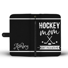 Personalized Hockey Mom Wallet Phone Case