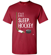 Load image into Gallery viewer, Red Kids Hockey Shirt for Hockey Kids, Hockey Boys and Hockey Girls