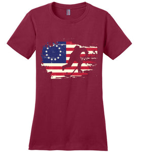 USA Betsy Ross Flag Hockey Shirt