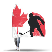 Load image into Gallery viewer, Canada Hockey Hooded Blanket