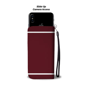 Hockey Mom Wallet Phone Case - Maroon