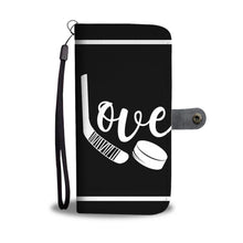 Load image into Gallery viewer, Love Hockey Wallet Phone Case