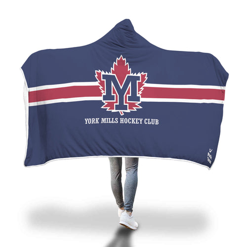 York Mills Hockey Club Hooded Blanket