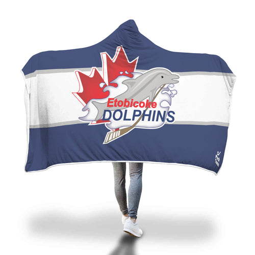 Etobicoke Dolphins Hooded Blanket