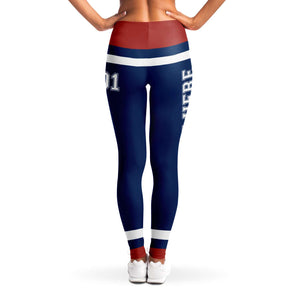 Blue/Red/White Team Leggings