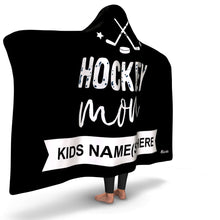 Load image into Gallery viewer, Personalized Hockey Mom Hooded Blanket
